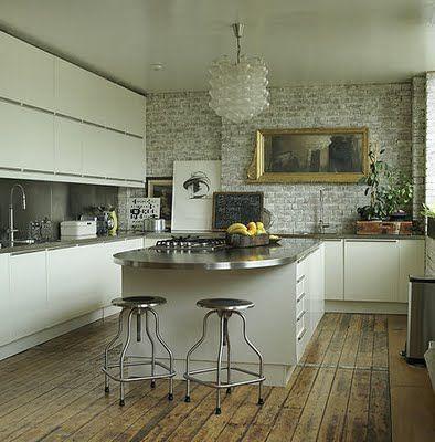 I will model my new kitchen after this warmly modern masterpiece : Eldhus