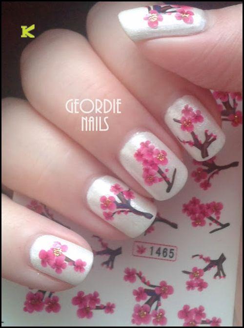 N.NAIL Chinese Pink Love A Peach Blossom Water Decals Nail Art KKcenterHk
