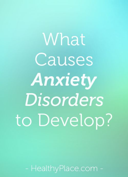 Learn what causes anxiety disorders. Heredity, brain chemistry, personality and life experiences discussed as anxiety disorder causes.  www.HealthyPlace.com