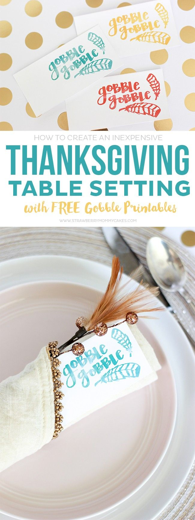 Learn How to Easily Create an Inexpensive Thanksgiving Table Setting that will wow your guest without breaking the bank!
