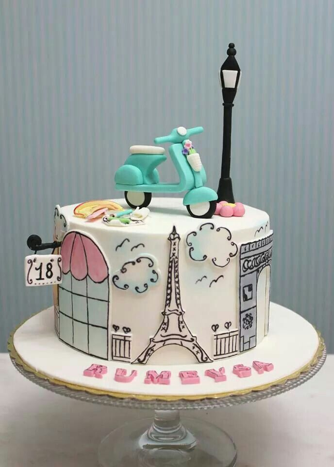 Perfect cake to celebrate a trip to Paris!