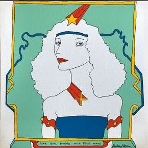 Star Girl Banded with Blue Wave, Barbara Nessim, 1966. Image courtesy of the artist. l Victoria and Albert Museum