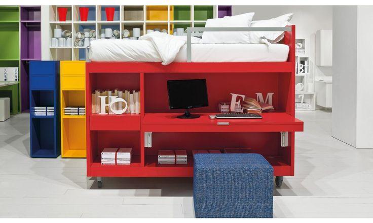 Les 17 meilleures images propos de armoire lit bureau - Bureau dans une armoire ...