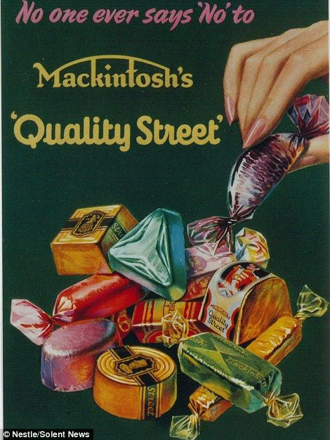 Notes and sketches detail plans for the first Quality Street tins | Daily Mail Online