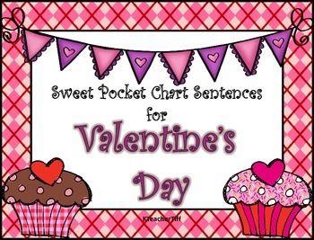 valentine 39 s day pocket chart sentence builders sentences chart and worksheets. Black Bedroom Furniture Sets. Home Design Ideas