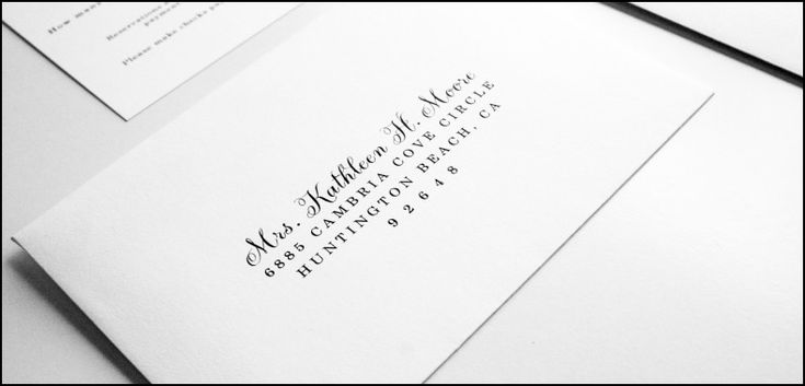 Address Stickers for Wedding Invitation