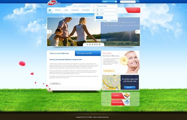 Layout CityFarma (atualizado)  by ~Danielsnows  #webdesign