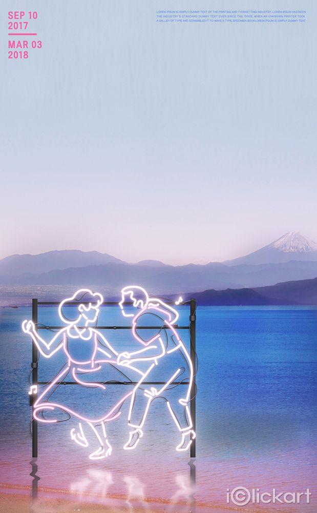 #네온아트 #네온드로잉 #neon #일러스트 #poster #design #idea #illustration #iclickart #stockimage #스톡이미지 #아이클릭아트