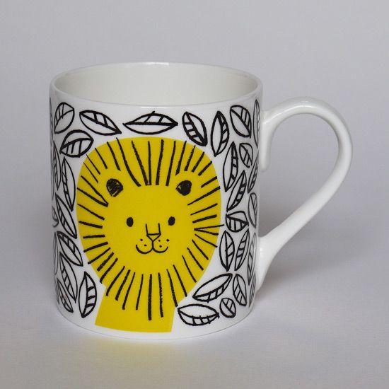 jungle lion mug from lisa jones studio