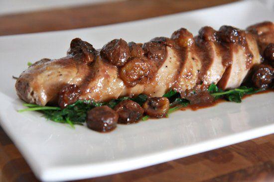 Roasted Grape Demi-Glace Pork Tenderloin   Recipe   Pork ...