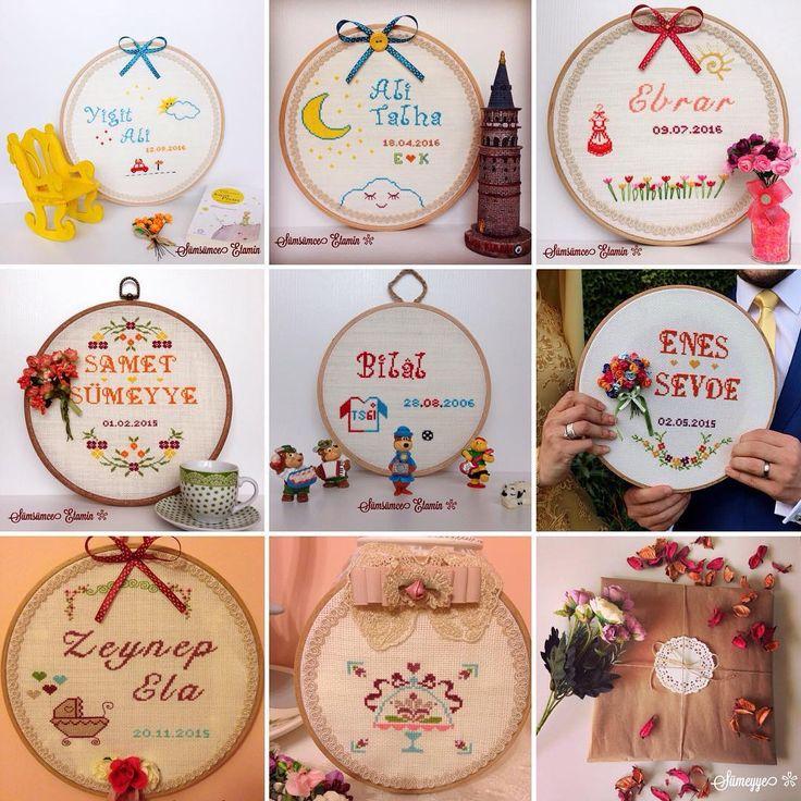 Sümsümce Etamin Mutluluk Panoları, Çift Panosu, Evlilik Panosu, Söz Panosu, Nişan Panosu, Düğün Panosu, Yenidoğan Panosu, Bebek Panosu, cross stitch, handmade