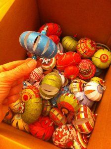 How to make christmas paper ornaments