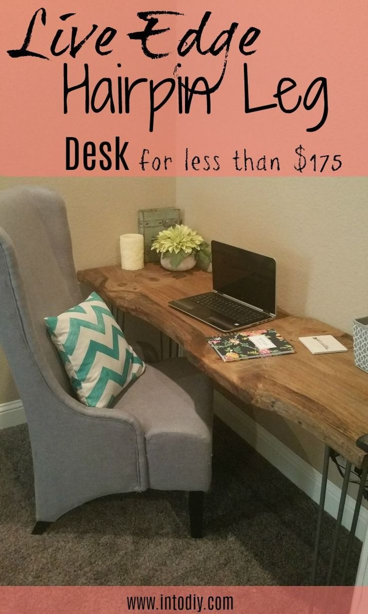 how to make a live edge hairpin leg desk table diy crafting ideas rh pinterest com