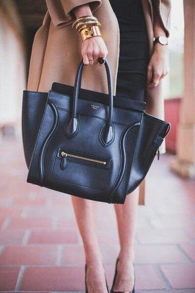 black Céline bag.
