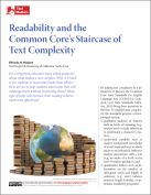 Common Core - Text Complexity article. This site has MANY reading and vocabulary resources.