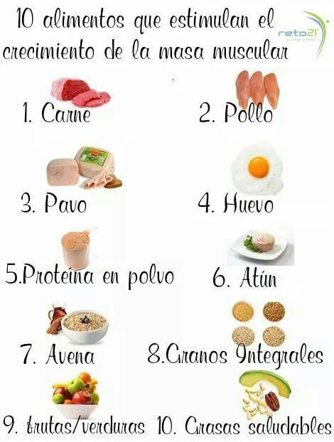 10 alimentos hacen masa muscular