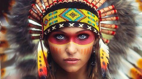 american indian makeup - Buscar con Google                                                                                                                                                                                 Más