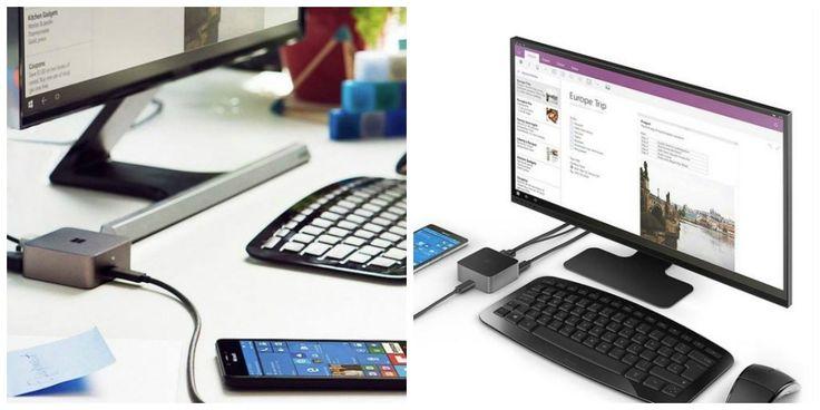 """#Microsoft, #Windows10 akıllı telefon modellerini tanıttı. Telefonların en önemli özelliklerinden biri """"#Continuum"""" adı verilen sistem sayesinde masaüstü bilgisayara dönüşebilmesi. #MicrosoftDisplayDock aracılığı ile, cep telefonunuzu monitör, klavye ve mouse ile birlikte PC gibi kullanabiliyorsunuz. Kaynak: TechnoBuffalo"""