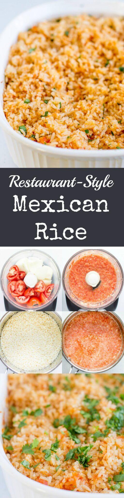 Recreate Restaurant-Style Mexican Rice at home in your oven. geen oven gebruikt, gewoon in de pan laten garen, werkt prima. extra maggieblokje en chilipoeder toegevoegd, miste nog wel een kruidige specerij, maar kan niet zeggen welke, misschien uienpoeder en/of komijn? Of verse paprika en paprikapoeder? (Met erwtjes en feta wordt het griekse rijst) Volgende keer rijst apart koken en toevoegen aan de gebakken ui en tomaat met kruiden en tomatenpuree.