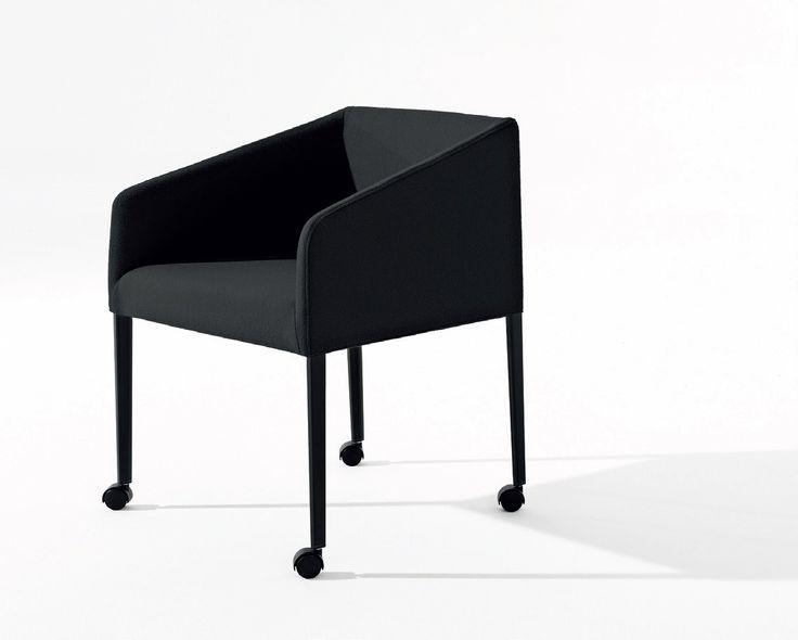SAARI Petit fauteuil à roulettes by Arper design Lievore Altherr Molina