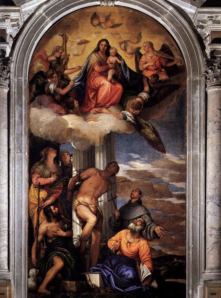 Virgin and Child with Saints, 1564-1565 Paolo Veronese