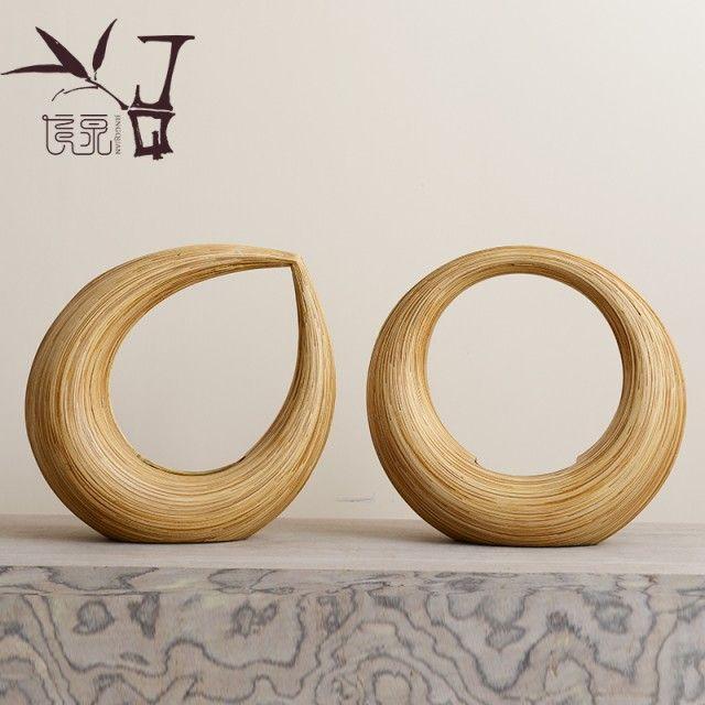 Handmade bamboo weaving art show Chinese style life hall Thailand restaurant furnishing articles