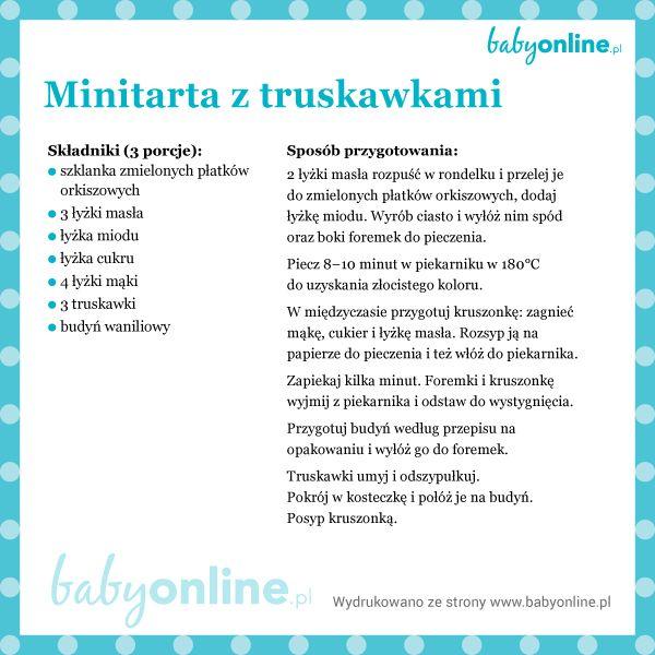 Przepis na minitarty z truskawkami dla dziecka