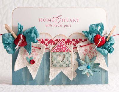 Home and Heart - Kaart met vlaggetjes.
