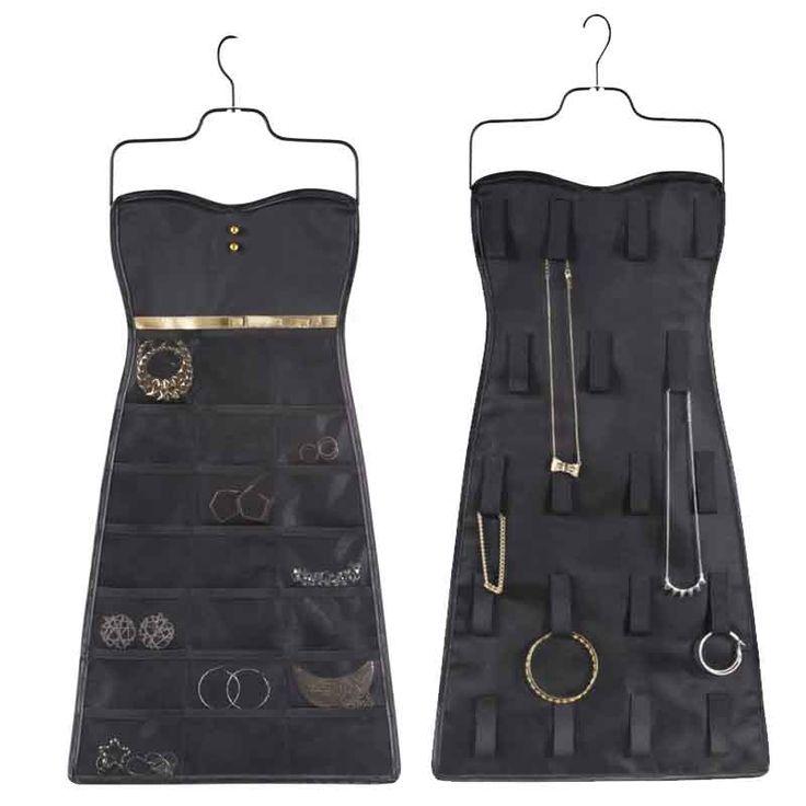 Organizador de joyas vestido Bow... en poco espacio todos tus collares y pendientes organizados y disponibles de un solo vistazo