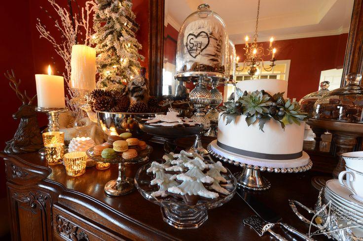 Winter Rehearsal Dinner  #Angela Marie Events #Baton Rouge #Louisiana  #eyewanderphoto #winterrehearsaldinner #antlers #succulents #ambrosia bakery #lenoxchina #deerchocolatesugarcookies #macaroons #winterysucculentcake #pinecones