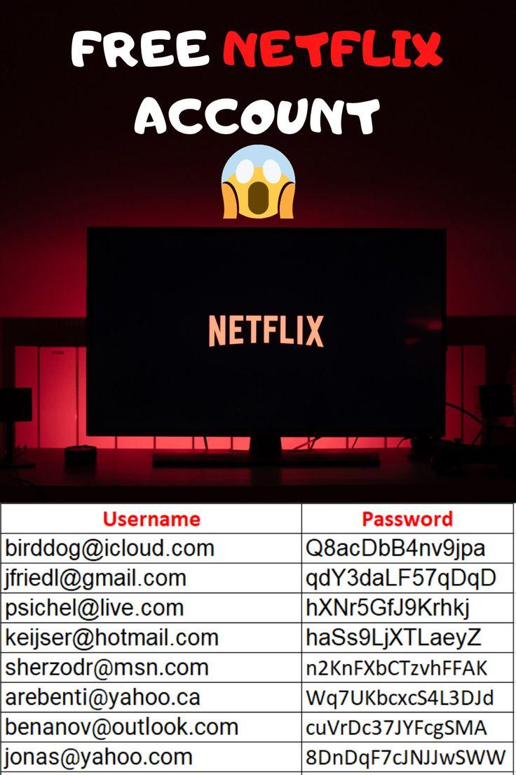 Free netflix accounts with username password100