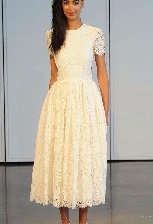 Lace modest dress