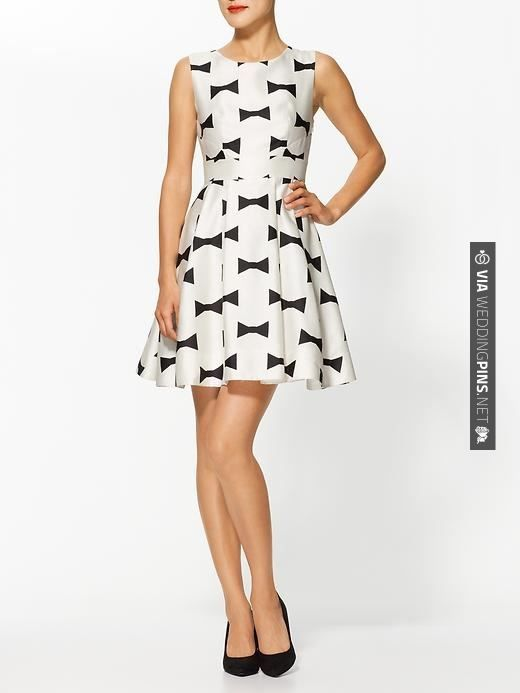 Neat - Kate Spade New York Marilyn Dress   CHECK OUT MORE GREAT BLACK AND WHITE WEDDING IDEAS AT WEDDINGPINS.NET   #weddings #wedding #blackandwhitewedding #blackandwhiteweddingphotos #events #forweddings #iloveweddings #blackandwhite #romance #vintage #blackwedding #planners #whitewedding #ceremonyphotos #weddingphotos #weddingpictures