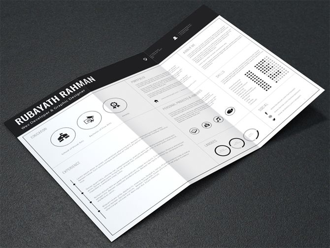 40 best free resume templates 2017 psd ai doc - Free Resume Printables