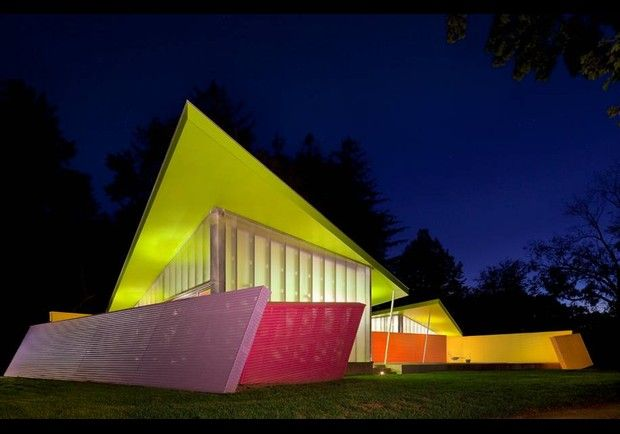 Outside view of Shelter Island Pavilion, Long Island, NY...very cool.