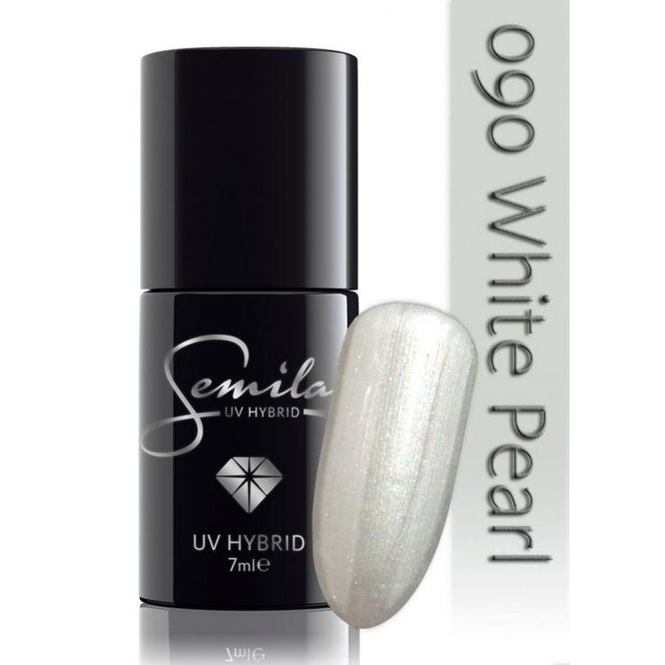 Ημιμόνιμο μανό Semilac - 090 White Pearl 7ml - Semilac | Προϊόντα Μανικιούρ - Πεντικιούρ Semilac & Ημιμόνιμα.