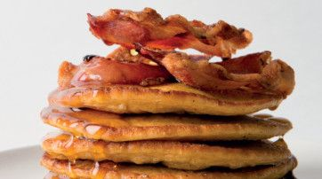 Try this Oat Flapjacks With Crispy Bacon recipe!