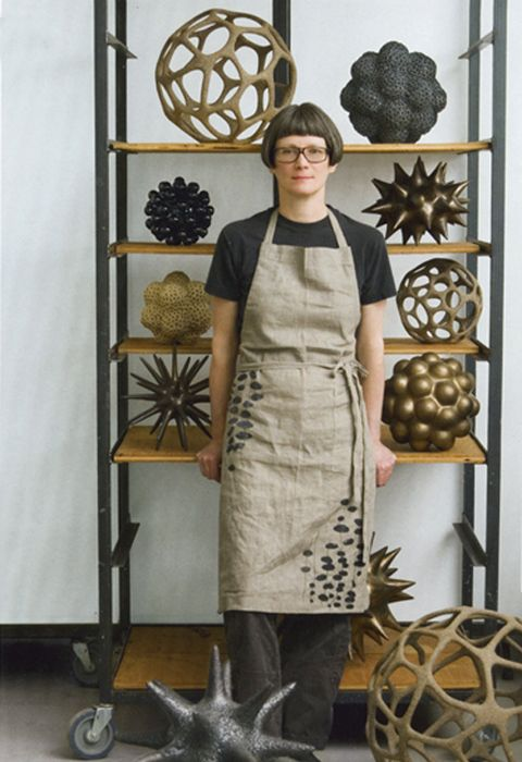 ceramist, Pamela Sunday. Her ceramics are inspired by the microscopic shapes found in nature.