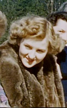 """Eva Braun in one of her mink coats, on the terrace of the Berghof in 1940/41. Hitler told his longstanding adjutant, Julius Schaub, in 1941: """"I have to buy Eva more mink coats. I have to do something to excuse all that she has had to endure with all this"""" (their relationship). Schaub wrote about this in his memoirs, In Hitlers Schatten. Even at this (relatively) late stage of their relationship Eva was still hidden away and introduced to guests as a """"secretary."""" (via putschgirl)"""