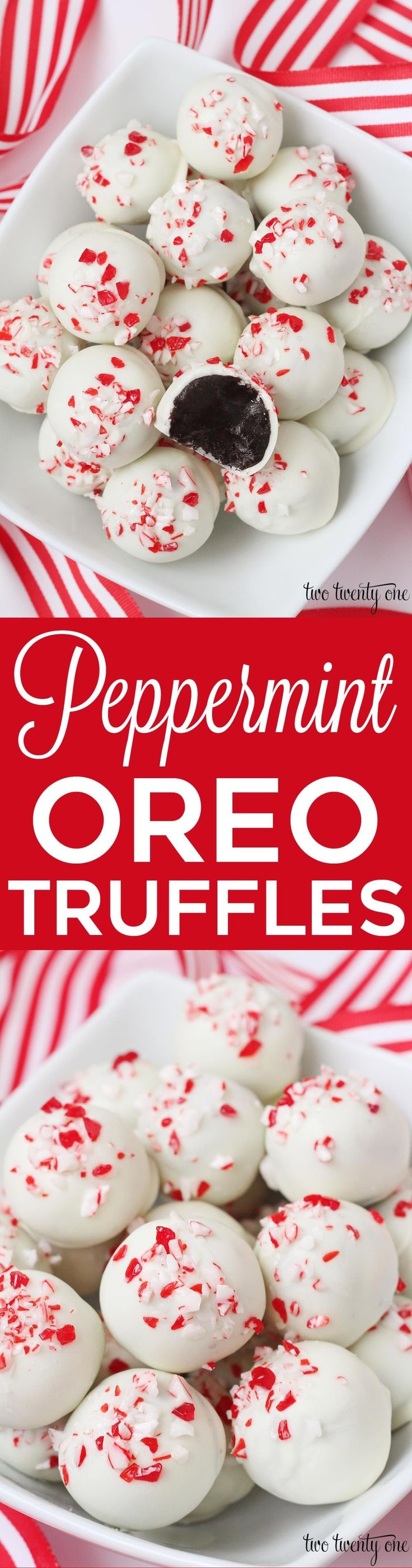 It's officially acceptable to start talking about Christmas! To celebrate this momentous annual occasion, I'm sharing these Peppermint Oreo Truffles.