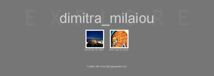 Dimitra's Milaiou photos in Flickr's Explore pages for January and February 2016.
