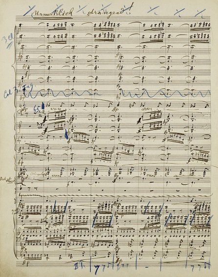 gustav mahler symphony no3 an original handwritten manuscript by the composer was