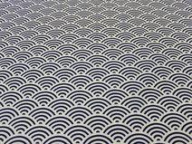 Traditionnelle Japonais motif wave - blue -