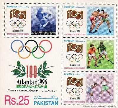 Pakistan #s/sheet stamps 1996 atlanta #olympics #hockey wrestling boxing,  View more on the LINK: http://www.zeppy.io/product/gb/2/291759081680/