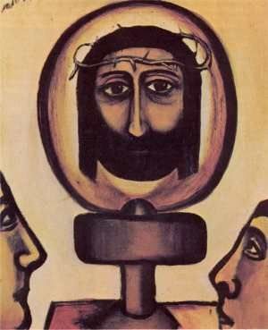 COLIN McCAHON: Christ as a Lamp (1947) oil on board (Collection the Artist). From article by Neil Rowe: Art New Zealand: NUMBER 8  / SUMMER 1977-78. See biography at http://collections.tepapa.govt.nz/theme.aspx?irn=947.