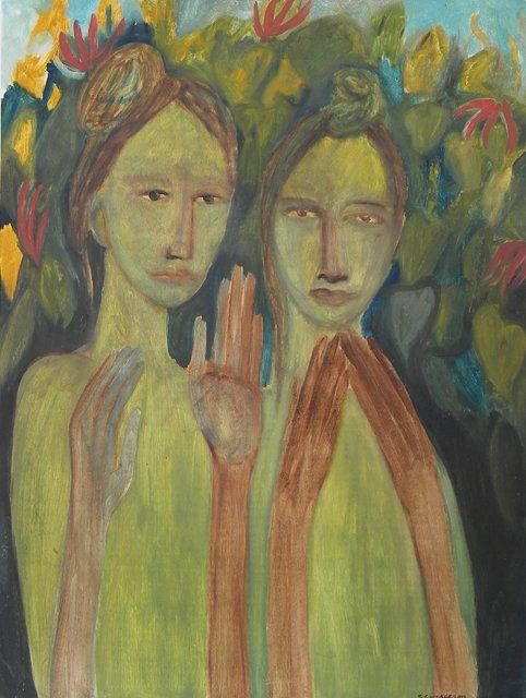 Star Gossage - Under My Flame Tree Double portraiture