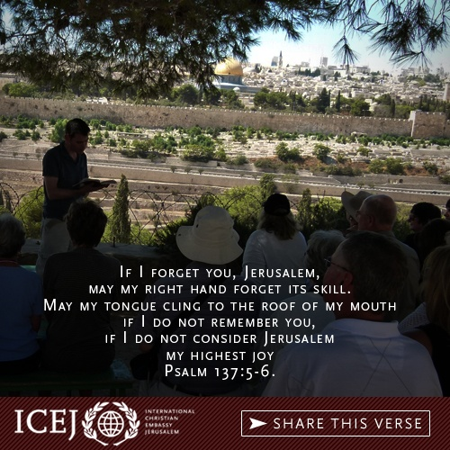 Psalm 137:5-6 ~ Jerusalem, if I forget you...let me right hand forget what it's supposed to do