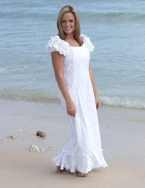 Short Hawaiian Wedding Dresses