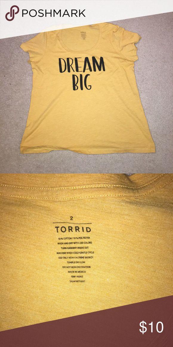 New Torrid Mustard Gold Tee...Size 2. Cute 👚!!! New without tags. Torrid size 2. Mustard gold color. Never washed or worn. Smoke free home. Bundle to save 💰! torrid Tops Tees - Short Sleeve