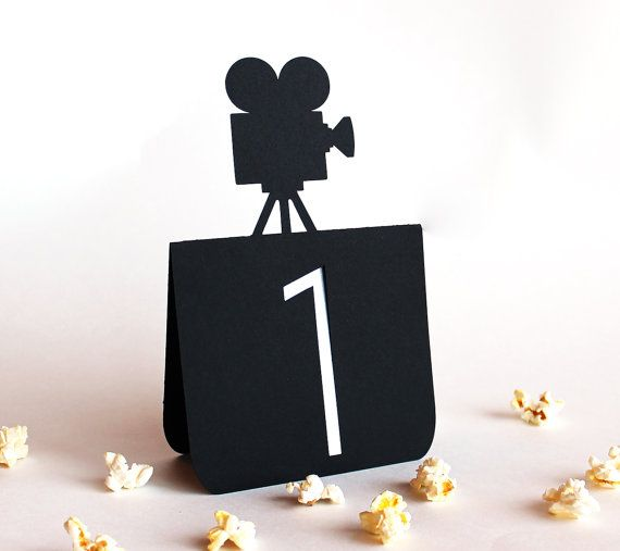 Movie Camera Table Numbers 1 to 25 Wedding by Tiffzippy on Etsy